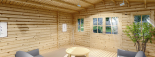 Cabaña de madera para jardín CLARA (66 mm), 28 m² visualization 8