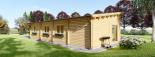Casa de madera BERTA de tejado plano (44+44 mm), 72 m² + garaje 20 m² visualization 5
