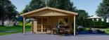 Cabaña de madera para jardín CAMILA (44 mm), 6x4 m, 24 m² visualization 2