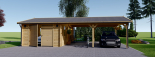 Garaje de madera (44 mm), 4x6 m + Cochera doble 5.5x6 m, 57 m² visualization 3