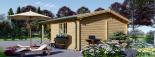 Cabaña de madera para jardín CAMILA (44 mm), 6x4 m, 24 m² visualization 7