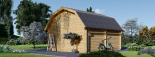 Garaje de madera MISSISSIPPI (44 mm), 5x6 m, 30 m² visualization 4