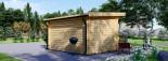 Caseta de jardín de madera DREUX con tejado plano (44 mm), 4x3 m, 12 m² visualization 4