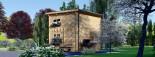 Casa de jardín AVIGNON de tejado plano (44 mm), 20 m² de dos plantas visualization 5