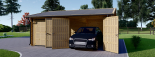Garaje de madera DOBLE ALTERNATIVE (44 mm), 6x6 m, 36 m² visualization 3