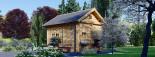 Casa de madera para jardín AVIGNON (44 mm), 20 m² de dos plantas visualization 5