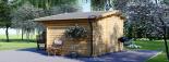 Caseta de madera para jardín BENINGTON (34 mm), 4,5x3 m, 13 m² visualization 4