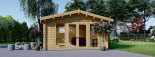 Caseta de madera MIA (44 mm), 5.5x5.5 m, 30 m² visualization 3