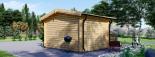 Caseta de jardín de madera DREUX (44 mm), 4x3 m, 12 m² visualization 4