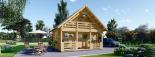 Casa de madera para jardín LIVINGTON 44 mm, 50 m² visualization 2