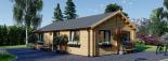 Casa de madera GRETA 44+44 mm, 54 m² visualization 1
