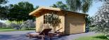 Caseta de madera para jardín PALMA (34 mm), 4x4 m, 16 m² visualization 6