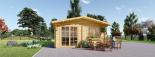 Caseta de jardín WISSOUS 12 m² (4x3) 34 mm visualization 1