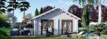 Casa de madera para vivir ANICA (44+44 mm, aislada PLUS), 71 m² visualization 3
