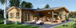 Casa de madera BERTA (66 mm), 72 m² + garaje 20 m² visualization 1