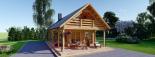 Casa de madera AURA (44+44 mm), 72 m² visualization 3