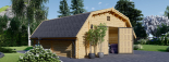 Garaje de madera TEXAS (44 mm), 6x6 m, 36 m² visualization 3