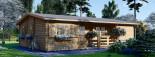 Casa de madera UZES (44 mm), 70 m² visualization 1