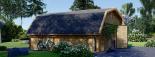 Garaje de madera TEXAS (44 mm), 6x6 m, 36 m² visualization 4