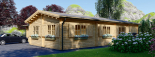 Casa de madera BERTA (66 mm), 72 m² + garaje 20 m² visualization 7