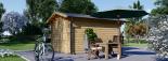 Caseta de jardín de madera PETER (34 mm), 3x3 m, 9 m² visualization 4