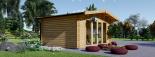 Caseta de jardín MARTA 20 m² (5x4) 66 mm visualization 4