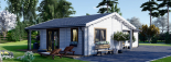 Casa de madera ADELE (44+44 mm), 68 m² visualization 4