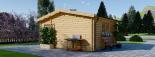 Caseta de madera NINA (44 mm), 6x6 m, 36 m² visualization 6