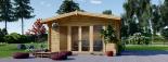 Caseta de jardín MARTA 20 m² (5x4) 44 mm visualization 2