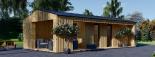 Casa de jardín ANNA SCANDINAVIA (44 mm + revestimiento) , 37 m² visualization 1