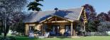 Casa de madera para vivir VERA (44+44 mm, aislada PLUS), 132 m² visualization 2