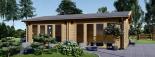 Casa de madera para jardín MARINA (44 mm), 48 m² visualization 2