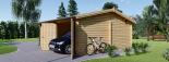 Garaje de madera DOBLE ALTERNATIVE (44 mm), 6x6 m, 36 m² visualization 5