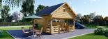 Casa de jardín ALBI (44 mm), 20 m² + porche visualization 1