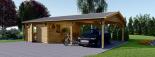 Garaje de madera 400x595 44 mm + Cochera Double 550x595, 57 m² visualization 4