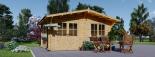 Cabaña de madera para jardín LILLE 25 m² (34 mm), 5x5 m, 25 m² visualization 2