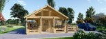 Caseta de madera habitable ANGERS (44+44 mm, aislada PLUS), 36 m² visualization 3