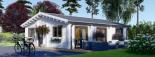 Casa de madera para vivir ALICE (44+44 mm, aislada PLUS), 72 m² visualization 2