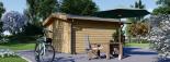 Caseta de madera para jardín PALMA (34 mm), 4x4 m, 16 m² visualization 4