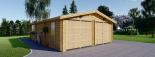 Garaje de madera 600x900 44 mm 54 m² visualization 3