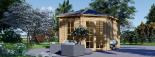 Caseta de jardín KIM 15 m² (5x3) 44 mm visualization 8