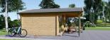 Cabaña de madera para jardín CAMILA (44 mm), 6x4 m, 24 m² visualization 6