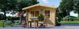 Caseta de jardín de madera DREUX (44 mm), 4x3 m, 12 m² visualization 6