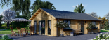 Casa de madera GRETA 44+44 mm, 54 m² visualization 4