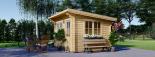 Caseta de jardín de madera DREUX con tejado plano (44 mm), 4x3 m, 12 m² visualization 2