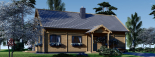 Casa de madera para vivir VERA (44+44 mm, aislada PLUS), 132 m² visualization 7