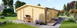 Casa de madera para jardín MILA (44 mm), 56 m² visualization 6