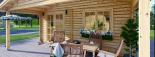 Cabaña de madera para jardín CAMILA (44 mm), 6x4 m, 24 m² visualization 8