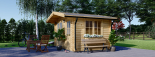 Caseta de madera para jardín DREUX (66 mm), 4x4 m, 16 m² visualization 2