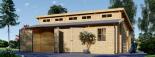 Garaje de madera DOBLE TWIN (44 mm), 8x6 m, 48 m² visualization 5